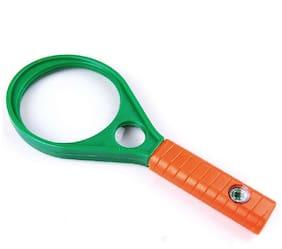 PRODUCTMINE Double lens Magnifier 65mm 4X::6X Magnifying Glass  (Multicolor)