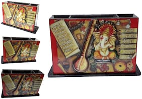 PRODUCTMINE   3D Ganesh Pen Holder Office Stationery Pen Stand Table Accessories ( 11 Cm X 8 Cm )