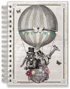 Punch Studio E8 Stationery Spiral Bound Lined Journal - Airballoon Animals 45973
