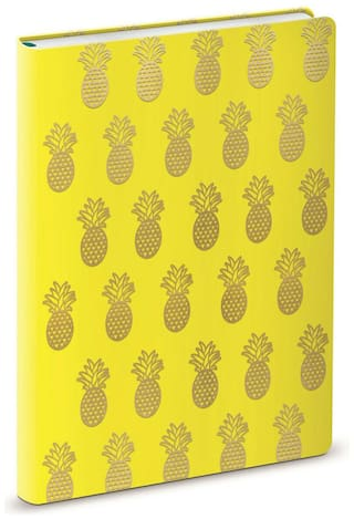 Punch Studio Lady Jayne E8 Stationery Faux Leather Journal - Yellow Pineapple...