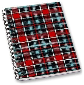 RADANYA Check A5 Notebook Wirebound Ruled Paper Diary