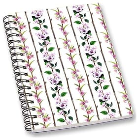 RADANYA Floral A5 Notebook Wirebound Ruled Paper Diary