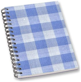RADANYA Gingham A5 Notebook Wirebound Ruled Paper Diary