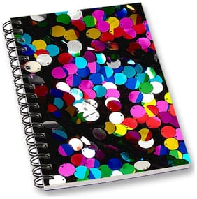 RADANYA Mirror Sequins A5 Notebook Wirebound Ruled Paper Diary