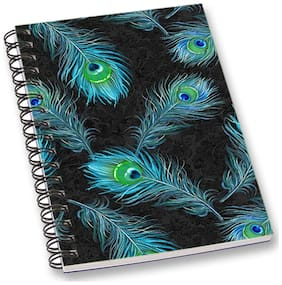 RADANYA Peacock Feather A5 Notebook Wirebound Ruled Paper Diary