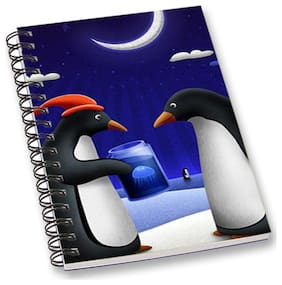 RADANYA Penguine World A5 Notebook Wirebound Ruled Paper Diary