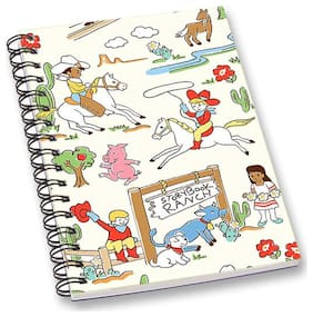 RADANYA Printed A5 Notebook Wirebound Ruled Paper Diary