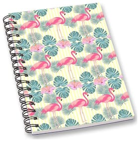 RADANYA Swan A5 Notebook Wirebound Ruled Paper Diary