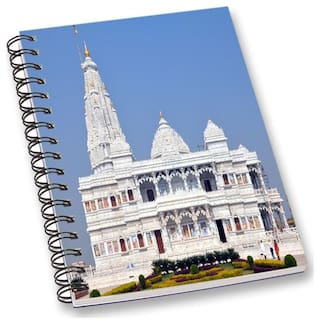 RADANYA Temple A5 Notebook Wirebound Ruled Paper Diary