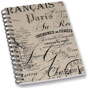 RADANYA Text A5 Notebook Wirebound Ruled Paper Diary