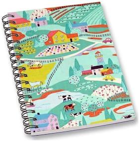 RADANYA Village A5 Notebook Wirebound Ruled Paper Diary