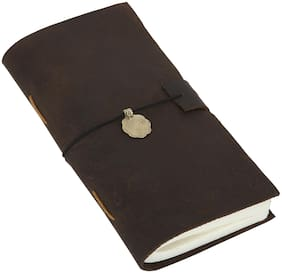 Rajrang Dark Brown Vintage Handmade Journal Notebook Leather Paper Diary L-8.5 X W-4.5 inch
