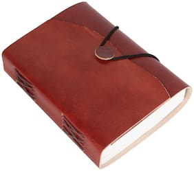Rajrang Maroon Vintage Handmade Journal Notebook Leather Paper Diary L-7 X W-5 inch