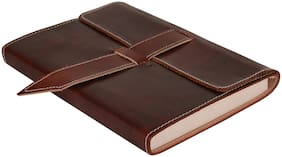 Rajrang Maroon Vintage Handmade Journal Notebook Leather Paper Diary L-8 X W-6 inch