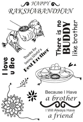 Raksha Bandhan Rubber stamp craft