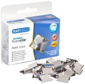 Rapesco 100 Stainless Steel Refill Clips for Supaclip #60 (Boxed)