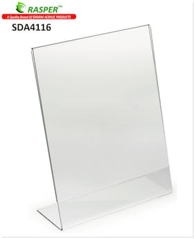 Rasper A4  Size Acrylic Display Stand SIgn Holder Menu Holder