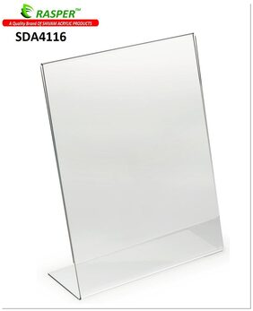 Rasper A4  Size Acrylic Display Stand SIgn Holder Menu Holder