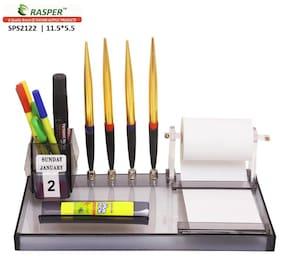 Rasper Multipurpose Desk Organizer Acrylic Pen Stand