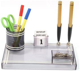 Rasper Small Pen Holder With Acrylic Pen Stand For Office Use