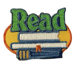 Read Book Lovers Educational Novelty Library Iron On Patch