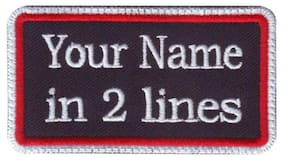 Rectangular 2 Line Personalized Embroidered Name / Text Tag Patch (D)