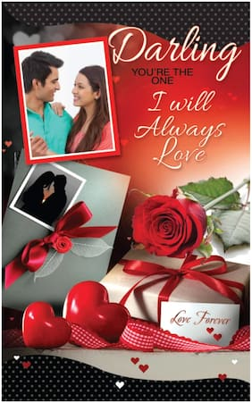 Red Moments Personalised Greeting Card for Anniversary