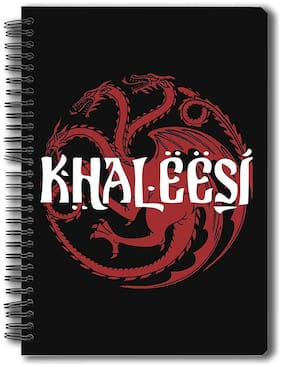 Redwolf Game Of Thrones Notebook Of Khaleesi A5 Size Officially Licensed By Hbo (Home Box Office);USA Gift Set/Birthday Gift/Return Gift