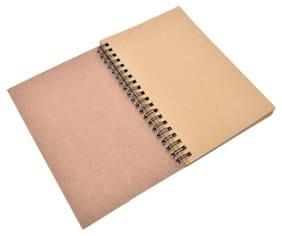 Retro Spiral Bound Coil Sketch Book Blank Notebook Kraft Sketching Paper LAU UCO