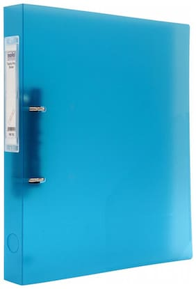 Ring Binder-2-D-Ring (1 Inch Ring;Rado Lock) (Pack Of 3)-Blue
