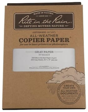 """Rite in the Rain 8511GY All-Weather Copier Paper, Gray, 8.5"""" x 11"""" - 200 Sheets"""