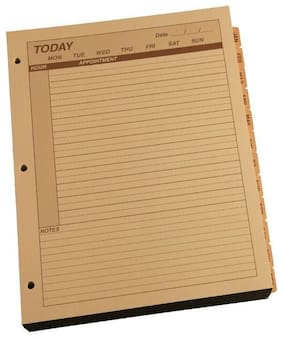"Rite in the Rain 9260D-MX All-Weather Daily Calendar Pages, Tan, 8.5"" x 11"""