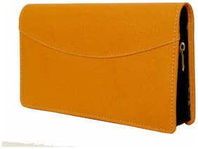 RK  leather multiple function cards,Chequebook, passport holder All In One (Yellow ) Set of 1