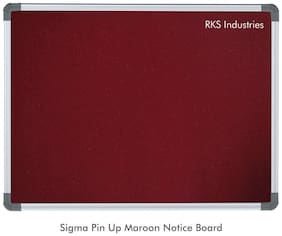 RKS Industries Maroon Lightweight Aluminium Frame, Pin-up Board, 2 x 3 Feet