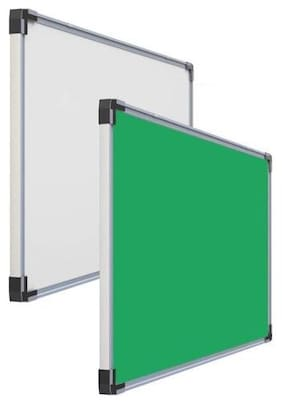 RKS Industries Double Sided Board (1 Side White 1 Side Green) -(2 x 3 ft)- Pack of 1