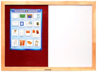 Roger And Moris Wooden Framed Combination Of White Board And Pin Board (2 x 1.5 feet)