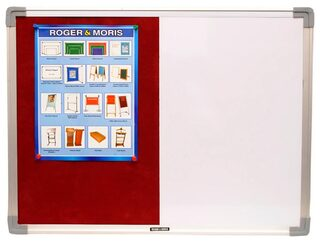 Roger And Moris Aluminium Framed Combination Of White Board And Pin Board (2 x 1.5 feet)