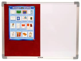 Roger And Moris Aluminium Framed Combination Of White Board And Pin Board (2.5 x 1.5 feet)