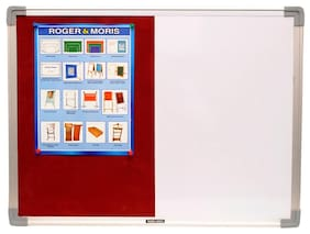 Roger And Moris Aluminium Framed Combination Of White Board And Pin Board (2 x 1 feet)