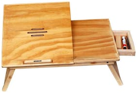 Roger & Moris Study cum Laptop Table With Slots & Drawer (22 inch x 12.5 inch approx)