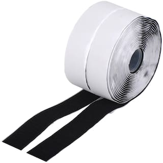 Royalkart Hook And Loop Tape Roll Strips With Adhesive Back Mounting Tape For Picture And Tools Hanging Pedal Board Fastening (5 M Hook + 5 M Loop)
