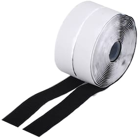 Royalkart Hook And Loop Tape Roll Strips With Adhesive Back Mounting Tape For Picture And Tools Hanging Pedal Board Fastening (10 M Hook + 10 M Loop)