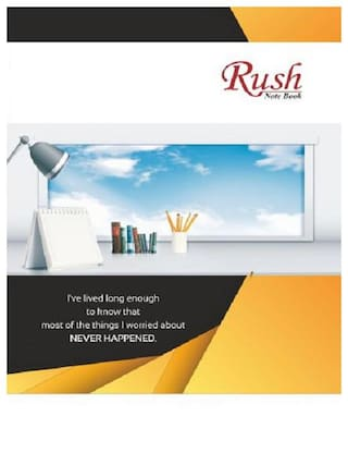 Rush 452 Pgs Premium A4 Notebook (Pack of 4) - Single Line Ruled