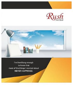 Rush Products 216 Pages A4 Notebooks (Pack of 3)