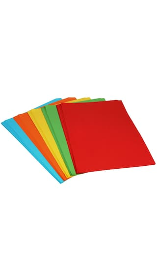 Buy Sadaf A4 Size 80Gsm General Purpose Color Papers (Pack Of 100 ...