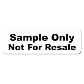"""Sample Only Not For Resale"" 1.25 x 0.375 Rectangle, Roll of 500 Labels"