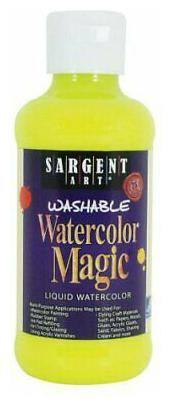 SARGENT ART 227077 WATERCOLOR MAGIC WASHABLE 8OZ FLUORESCENT CHARTRUSE