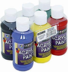 Sargent Art Acrylic Paint Set - 6 Primary Colors - 6 x 4 oz