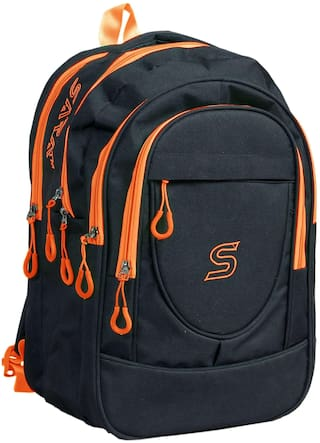 sara bags 25 L School bag & Backpack - Black & Orange