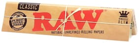 SCORIA King Size RAW Classic Rolling Paper Pack of 5 (160 Leaves)
